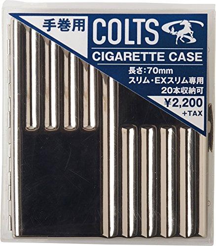 COLTS(コルツ) タバコケース スリム・EXスリム用 20本収納 シルバー CO-CASEN