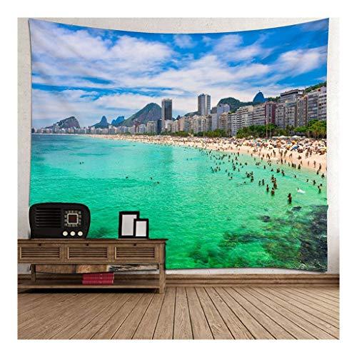 Jue Decoración for la Pared Tapiz Beach tapicería de la Pared for el Dormitorio Living Dormitorio de Pared Tapices décoración zxy (Color : A, Size : 150 * 210cm)