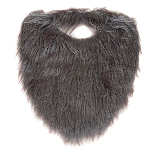 Funny Party Hats Fake Beard - Grey Beard - Fake Beard and Mustache - Pirate Beard