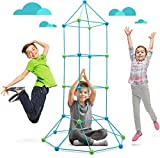 87 Piezas Build Your Own Den Kit Childrens Play Construction Fort Tent Making Set