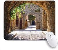 NINEHASA 可愛いマウスパッド トスカーナイタリアヨーロッパの小さな地方の町の古代イタリアの街 ノンスリップゴムバッキングコンピューターマウスパッドノートブックマウスマット