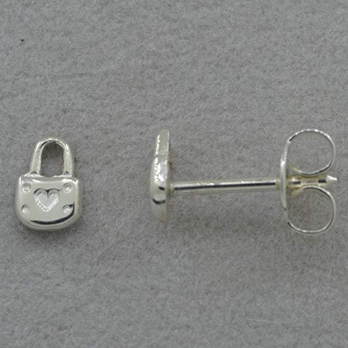 Mini-Ohrstecker als Liesesschloss, aus 925 Silber