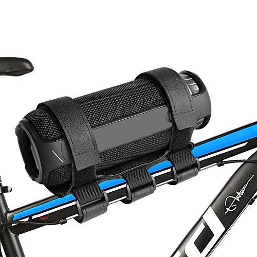 Caudblor Portable Bike Speaker Mount, Adjustable Wireless Speaker Strap, Premium Universal Bicycle Handlebar Sound Bar Holder with 2 Straps, for JBL Speakers/Water Bottle on Golf Cart/Boat