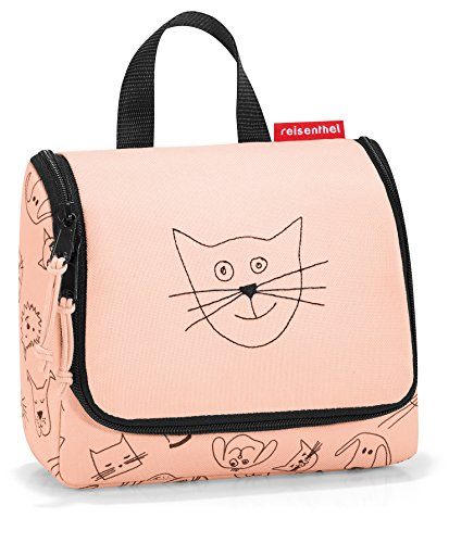 reisenthel toiletbag S kids cats and dogs rose Maße: 18,5 x 16 x 7 cm / Volumen: 1,5 l