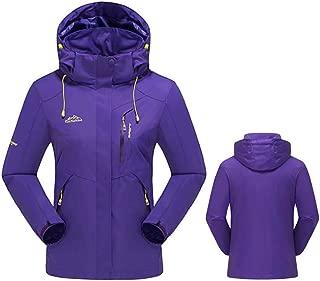 CWSY Women's Waterproof Jacket Outdoor Hooded Raincoat for Hiking Skiing Trekking Travelling Windbreaker Mountaineering