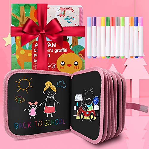 New Leather Surface Erasable Drawing Pad Toys(Alpaca), Road Trip Car Travel Airplane Activities Game, Magna Writing Board for Kids Toddlers Boys Girls Age 3 4 5 6 7 8 Year Old