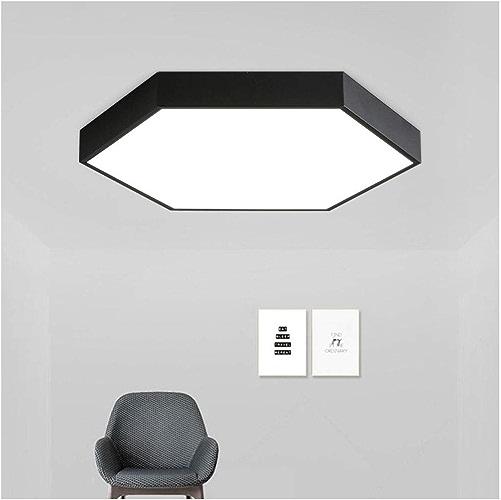 Plafonnier Acrylique Moderne Et Simple - éclairage De Chambre à Coucher Allée Balcon Ronde Lampe De Salon Lampe De Plafond (Couleur   noir 40  5cm-24w-Lumière blanche)