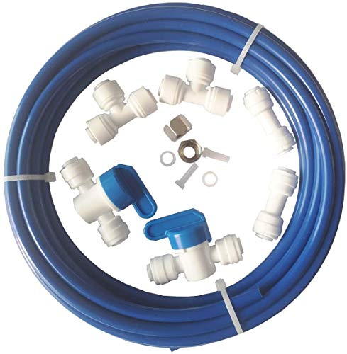 Malida RO Water Systems Ice Maker Kit 1/4' for Reverse Osmosis Systems and Water Filters (blue)