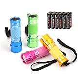 EverBrite 4-Pack LED Flashlight Mini Torch, 90mm Small Torches, Colorful Glow in Dark
