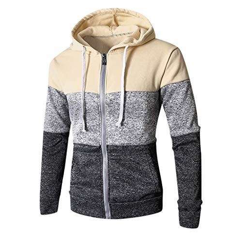 Daysing |Kapuzenpullover,Zip Hoodie,Sweatjacke,Pullover-Jacke|Herren, Unisex|für Fitness und Freizeit|Nähte, mehrfarbige Anpassung|weich, mit hochwertiger Verarbeitung|M-3XL