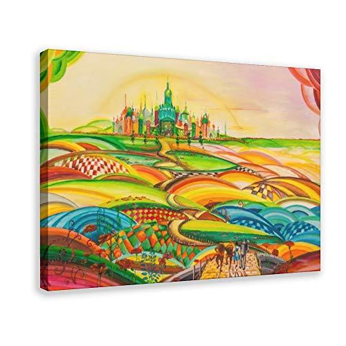 Póster de película retro El maravilloso mago de Oz (18) lienzo decorativo para dormitorio, deportes, paisaje, oficina, decoración para habitación, regalo, 60 x 90 cm, estilo marco 1