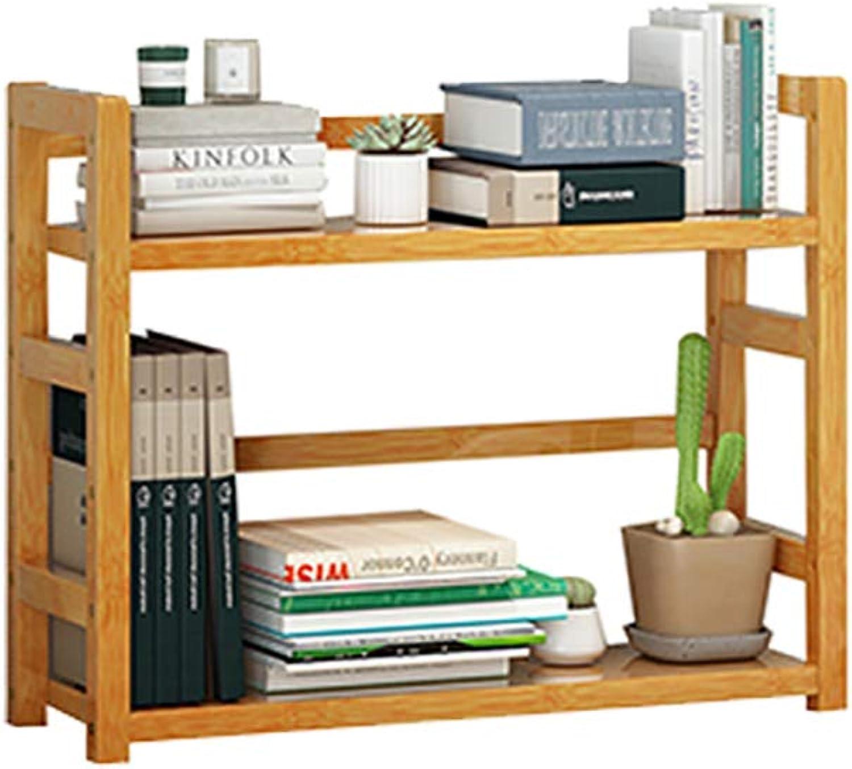 CIGONG-bookshelf Desktop Bookshelf Simple Desk Books Miscellaneous Storage Racks Solid Wood Bookcase Display Stand 36x18x43cm (Size   S)