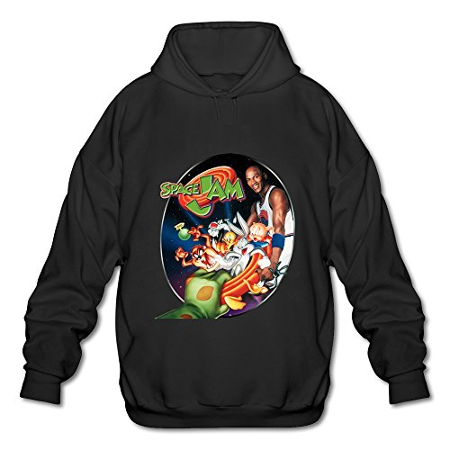 ZEKO Men s Long Sleeve Sweater Space Jam Size S Black