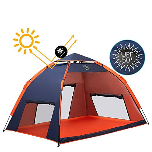 Outdoor tent 4-5 personen wild luifel huis automatische snelheid open zon schaduw regen comfortabel ademend blauw