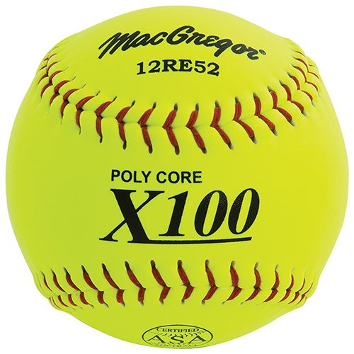 MacGregor X52RE ASA Slow Pitch Composite Softball, 12-inch - One Dozen