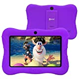 Contixo 7 Inch Kids Learning Tablet Parental Control 16GB Android 9.0 for at Home School Children Infant Toddlers - Pre-Loaded Educational Apps - Child-Proof Case - Great Gift for Children (Purple)
