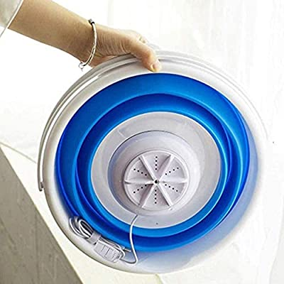 Portable washing machine, SEAAN- USB Mini Washing Machine, Personal Foldable 3 in 1 High Frequency Laundry Washer for Travel and Children's Laundry White