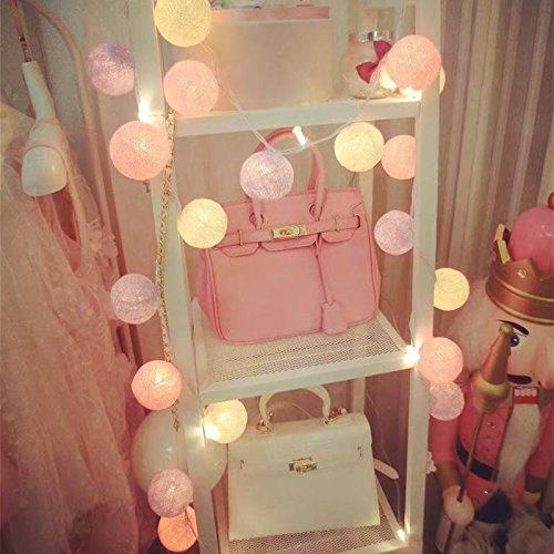 Coton Boule Chaîne Lumière de Fée 10-LED Conduit Multicolore Décor Jardin Maison