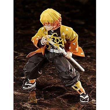 BUZZmod. Demon Slayer Kimetsu no Yaiba Zenitsu Agatsuma Action Figure 1/12