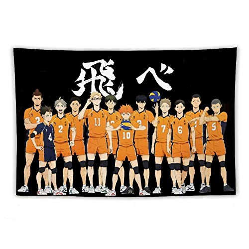 Haikyuu Tapestry Haikyuu Fly Banner Wall Hanging Anime Tapestries for Bedroom Living Room Dorm Decor Birthday Gifts 50x60in