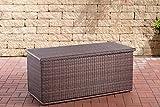CLP Poly-Rattan Auflagenbox Comfy I Für Gartenpolster I Wasserdicht, Farbe:braun-meliert, Größe:150 Liter
