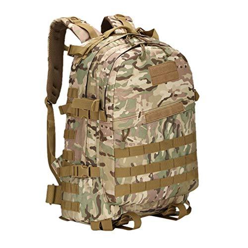 Ketamyy Militär 3 Day Rucksack Camouflage Molle Wasserdicht Dauerhaft Outdoor Taktische Reisen Trekking Kampfrucksack Wanderrucksack 40L Herren Damen Laptop Tasche Army Pack CP Camo