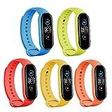 SZBAMI Bands Replacement for Mi Band 5 Strap Wristbands Xiaomi Mi Band 5 Smartwatch Accessaries Colorful Bracelet for Women Men-Xiaomi 5 Wrist Band