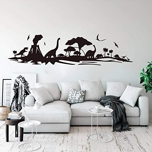 HGFDHG Dinosaur jungle tree wall series big cartoon dinosaur forest bird brooch animal wall kindergarten children's room bedroom decoration
