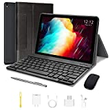 High-Performance Tablet, 10-inch Tablet with Keyboard and Mouse, Android 9.0 Quad-Core Processor Tablet, 3GB RAM +64GB with Google GMS Certification, 4G WiFi, 8000 mAh, FM, GPS, Bluetooth, OTG
