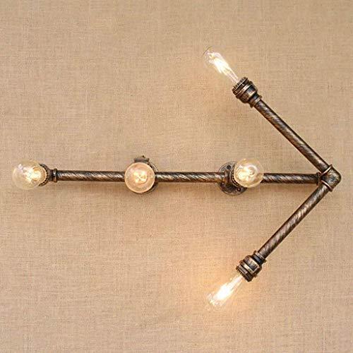 Minimalista Hotel Cafe bar Living Room lámpara de pared, lámparas de decoración de la pared, lámpara de pared Retro Flecha del tubo de agua lámpara de pared de la personalidad creativa Industrial Balc