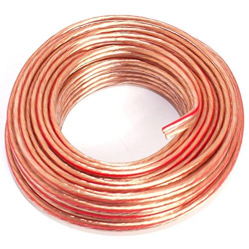 Cable para Altavoz (2 x 1,50 mm2) 1,50mm2-10m Transparente