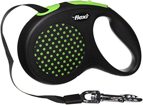 flexi Design Retractable Dog Leash (Tape), 16 ft, Medium/Large, Green
