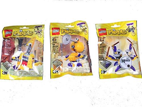 LEGO, Mixels Series 7 Bundle Set of Mixies, Jamzy (41560), Tapsy (41561) and Trumpsy (41562)