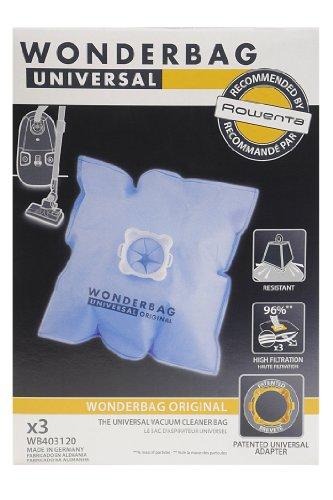 Universal WB403120 Staubsaugerbeutel Original Wonderbag, 3 Beutel und 1 Adapter