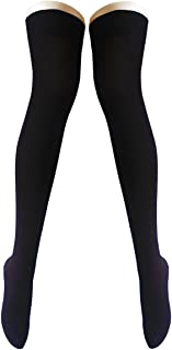 OUFANCY 2足組セット(4枚) オーバーニーソックス ロングソックス ハイソックス 綿 保温 防寒 レディース サイハイソックス あったか靴下 美脚 無地 通学 通勤 可愛い靴下