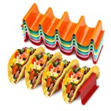 Taco Holder Stand - SET OF SIX - Colorful Taco Stand, Taco Rack, Holds 4 Large Tortilla Taco Plate...