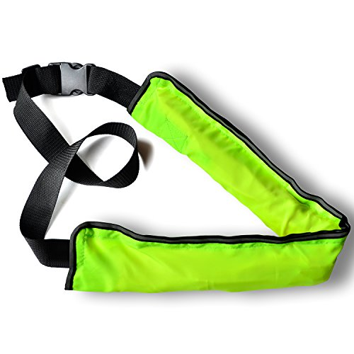 SuperSunny Life Jacket, Manual/Automatic Inflation, Belt Type, 9 Colors, CE Certified (Fluorescent Yellow, Manual Type)