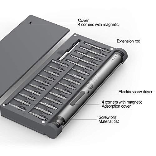 【POWERGIANT】電動ドライバー小型ミニ精密電動ドライバー57in155本磁気ビットUSB充電式LED作業ライト付きマグネットマットコードレス正逆転軽量携帯便利収納ケーススマホパソコンカメラ用…