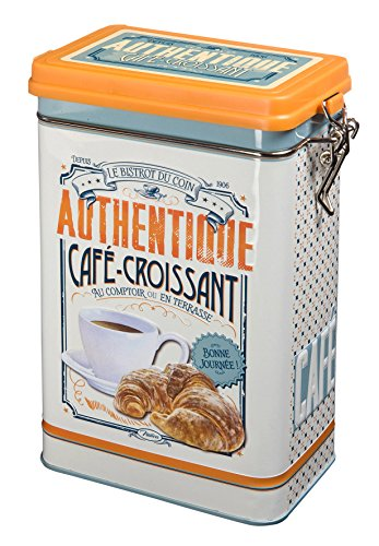 Natives 411140 Boîte à Café, Métal, Multicolore, 13 x 8,5 x 18 cm