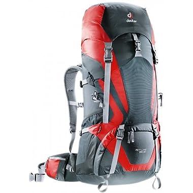 Deuter ACT Lite 65+10 Hiking Backpack, Granite/Fire
