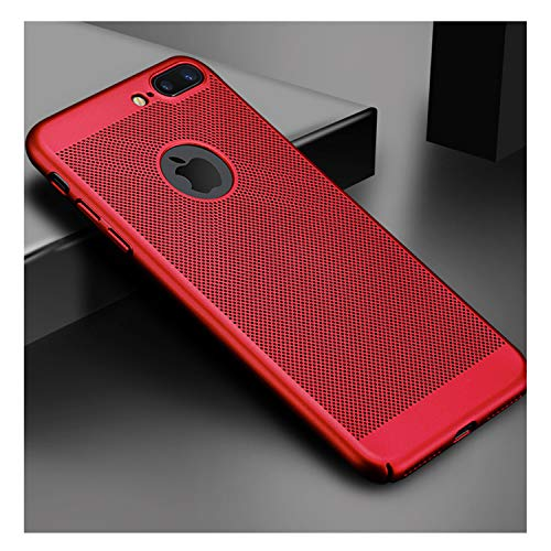 Ultra Slim Phone Case for iPhone 6 6S 7 8 Plus Hollow Heat Dissipation Cases Hard PC for iPhone 5 5S SE Back Cover Coque X S MAX Red for iPhone 6 6s