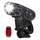 Uniavo USB Rechargeable Waterproof Cycle Light, High 350 Lumens Super Bright Headlight, Free Tail LAMP, LED Front and Rear Lights Combo camping lantern ultra brights May, 2021