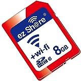 OSEI 無線LAN搭載 ez Share Wi-Fi SDHCカード Wi-fi内蔵カード Wi-Fi カード WiFi付きSDカード SDカード 無線LAN搭載SDHCメモリーカード Class10 最新世代 (8G)