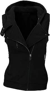Women's Winter Vest Hooded Casual Vest Warm Softshell Vest Sleeveless Winter Jacket Outdoor Vest with Pocket Zip