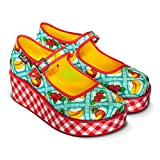 Hot Chocolate Design Chocolaticas Kitsch Picnic Plataforma Mary Jane para Mujeres Multicolor HCD 40