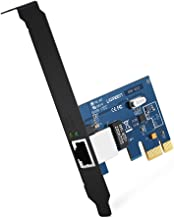 UGREEN Tarjeta de Red Gigabit Ethernet PCI Express 10/100/1000 Mbps con Puerto Gigabit Ethernet RJ45 y Perfil Doble