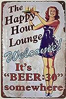 レトロおかしい金属錫サイン8 x 12インチ(20 * 30 cm) ビールブリキ看板スイミングプールビールワインパブクラブカフェホームレストラン壁の装飾アートサインポスター(4-ju-17)