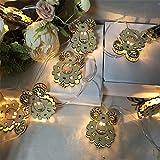 クリスマス、ホーム、パティオ、パーティー、フェスティバル、ガゼボ装飾用のLEDホリデー文字列ライト、IP54防水ウォームホワイトライト、