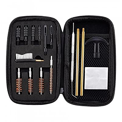 BOOSTEADY Universal Handgun Cleaning kit .22.357.38,9mm.45 Caliber Pistol Cleaning Kit Brush and Jag