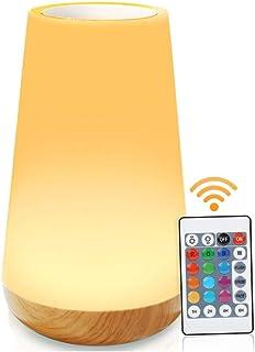 ASANMU Lampe de Chevet Colorée à 360°, Veilleuse LED Rechargeable Lampe Nuit Tactile Multicolore avec Luminosité Ajustable...